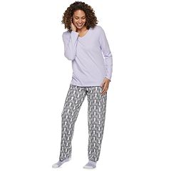 Petite Croft & Barrow® 3-piece Pajama Set