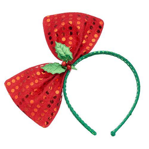 Holly Sequined Bow Headband