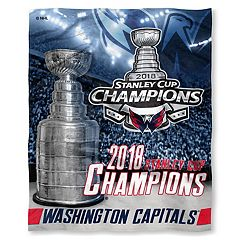 Washington Capitals 2018 Stanley Cup Champions Silk-Touch Throw Blanket
