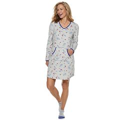 Women's Croft & Barrow® Velour Sleepshirt & Sock Set