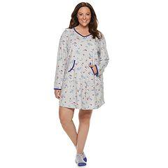 Plus Size Croft & Barrow® Velour Sleepshirt & Sock Set