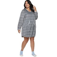 Plus Size Croft & Barrow® Velour Sleepshirt & Sock Set