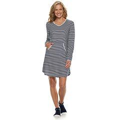 Women's Croft & Barrow® Printed Sleepshirt & Sock Pajama Set