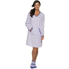 Women's Croft & Barrow® Printed Sleepshirt & Sock Pajama Set