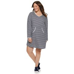 Plus Size Croft & Barrow® Printed Sleepshirt & Sock Pajama Set
