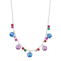 Multi Colored Ornament Bead Necklace