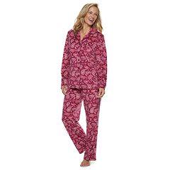 Women's Croft & Barrow® Velour Shirt & Pants Pajama Set