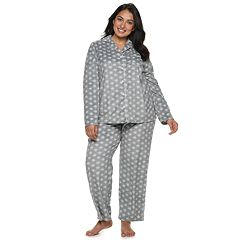 Plus Size Croft & Barrow® Velour Shirt & Pants Pajama Set