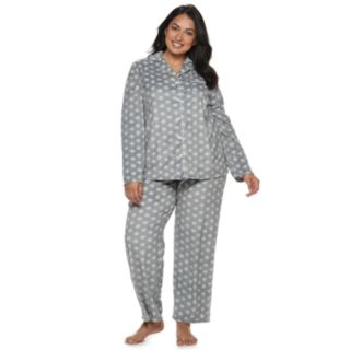 Plus Size Croft & Barrow® Velour Shirt & Pants Pajama Set
