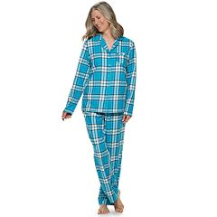 Women's Croft & Barrow® Flannel Shirt & Pants Pajama Set