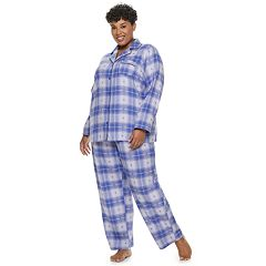 Plus Size Croft & Barrow® Flannel Shirt & Pants Pajama Set