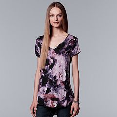 Women's Simply Vera Vera Wang Printed V-Neck Tee