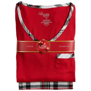 Petite Croft & Barrow® Tee & Flannel Pants Pajama Set