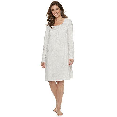 69d4fd711f44 Women's Croft & Barrow® Sleep henley Nightgown