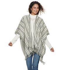 Women's Mudd® Aztec Striped Ruana