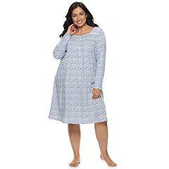 Plus Size Croft & Barrow® Henley Nightgown