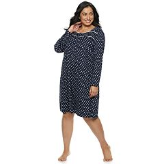 Plus Size Croft & Barrow® Henley Nightgown