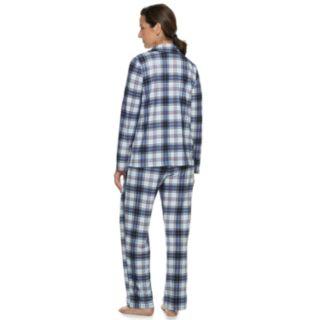 Women's Croft & Barrow® Notch Collar Shirt & Pants Pajama Set