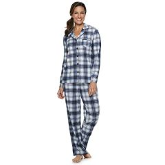 Women's Croft & Barrow® Notch Collar Shirt & Pants Pajama Set