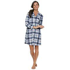 Women's Croft & Barrow® Notch Collar Sleepshirt