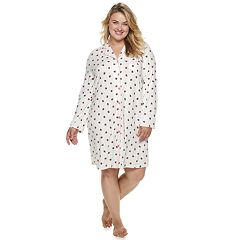 Plus Size Croft & Barrow® Notch Collar Sleepshirt