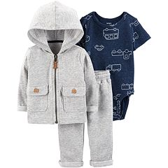Baby Boy Carter's Car Bodysuit, Hooded Jacket & Pants Set