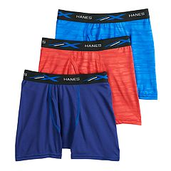 Boys 4-20 Hanes 3-Pack X-Temp Embossed Boxer Briefs