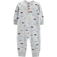 Baby Boy Carter's Car Print French Terry Coverall