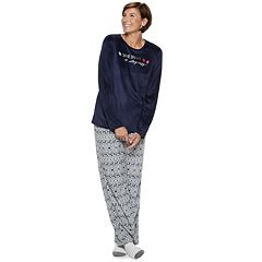 Women's Croft & Barrow® Velour Top & Pants Pajama Set