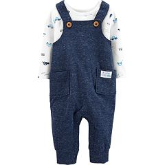 Baby Boy Carter's Car Print Top & Nep Overalls Set