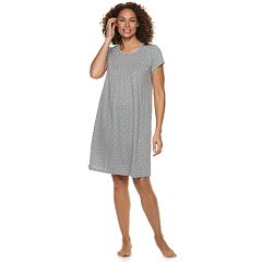 Women's Croft & Barrow Printed Pintuck Nightgown