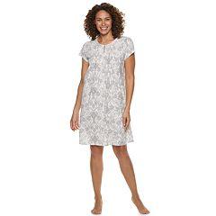 Women's Croft & Barrow Printed Pintuck Nightgown