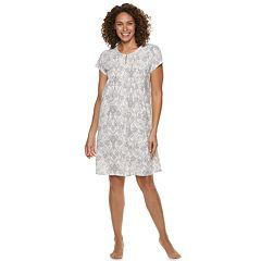 Petite Croft & Barrow Printed Pintuck Nightgown
