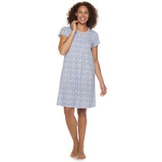 Petite Croft & Barrow Printed Pintuck Nightgown