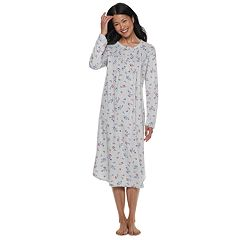 Women's Croft & Barrow® Pintuck Velour Nightgown