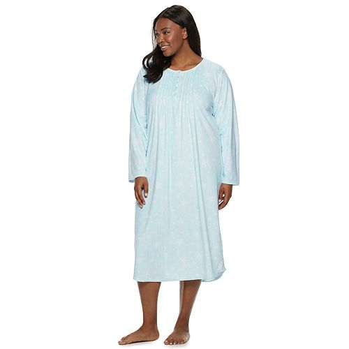 b7d90821c75 Plus Size Croft   Barrow® Pintuck Velour Nightgown