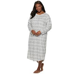 Plus Size Croft & Barrow® Pintuck Velour Nightgown