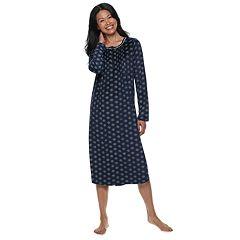Petite Croft & Barrow® Pintuck Velour Nightgown