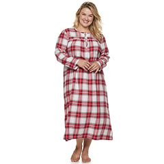 Plus Size Croft & Barrow® Flannel Nightgown