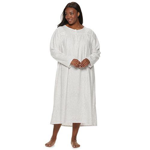 Plus Size Croft & Barrow® Flannel Nightgown