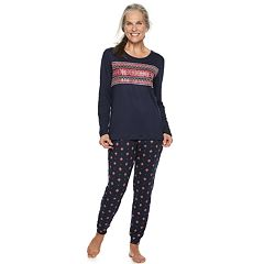 Women's Croft & Barrow® Holiday Graphic Tee & Joggers Pajama Set