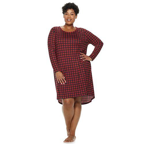 Plus Size Croft & Barrow® High-Low Sleepshirt