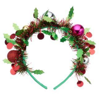 Tinsel & Holly Headband