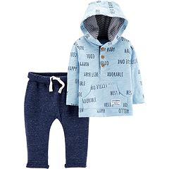 Baby Boy Carter's 'Adorable' Hooded Top & Nep Pants Set