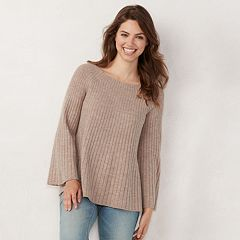 Women's LC Lauren Conrad Laceup Back Swing Sweater
