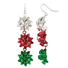 Present Bow Nickel Free Drop Earrings