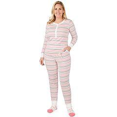 Plus Size Cuddl Duds Dreamer Sleep henley 3-piece Sleep Top & Banded Bottom Sleep Pants Pajama Set