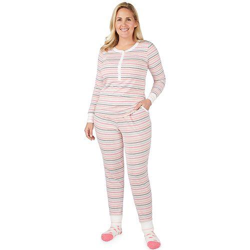 Plus Size Cuddl Duds Dreamer Henley 3-piece Top & Jogger Pajama Set