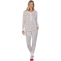 Petite Cuddl Duds Dreamer Henley 3-piece Tee & Jogger Pajama Set