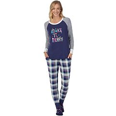 Women's Cuddl Duds Dreamer 3-piece Graphic Sleep Top & Banded Bottom Sleep Pants Pajama Set